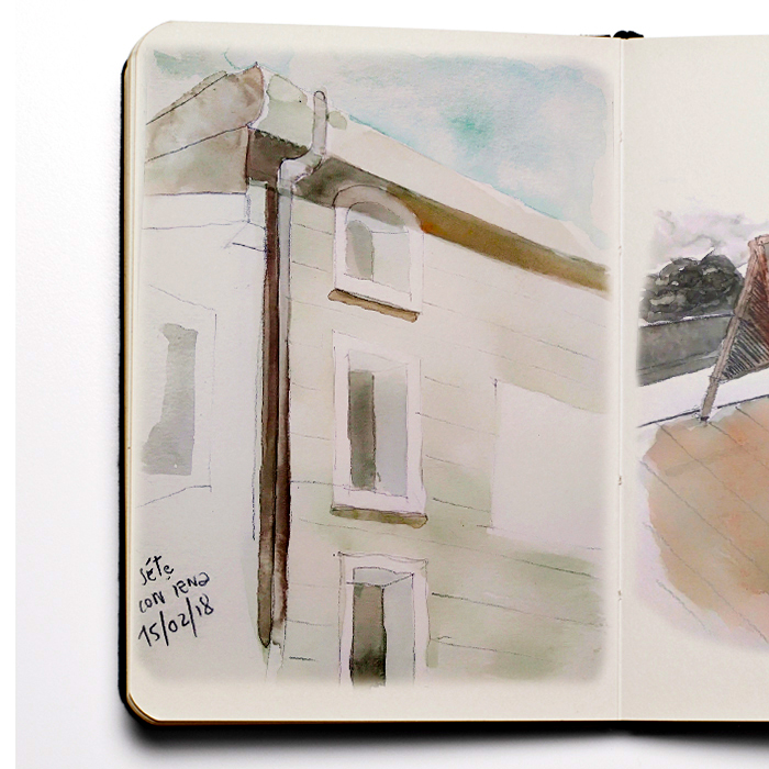 Alessia Serafini - watercolors - geographies gourmandes - Paris, Work : Sketch book